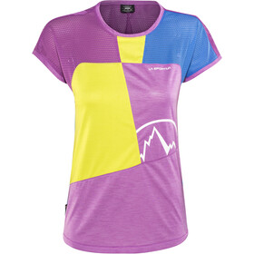La Sportiva Push T-shirt Dame purple/apple green